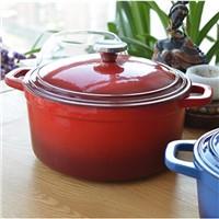 FDA standard enamel coated cast iron cookware casserole