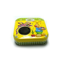 little chewing gum tin box with window