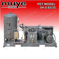 Two stage PET Air Compressor model VH0.65/35
