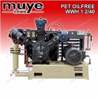 Oil free high pressure PET Air Compressor model WH1.2/40