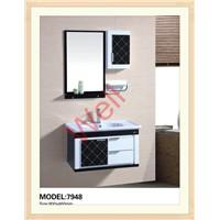 Soft hinge PVC bathroom cabinet 7948