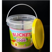1 KG Cookies/ Confectionary  Bucket, Printing Plastic Bucket with Tamper Resistant Lid