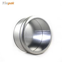 hot sale round cake tin box with window
