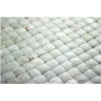 Shining Natural Convex White Shell Wall Paper Tile