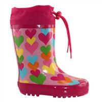Cute Fur Lining Waterproof Rain Rubber Boots