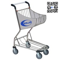 4 wheels airport hand cart , airport shopping cart