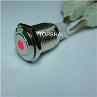 16mm stainless seel latching or momentary metal push button led