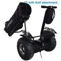 Freego F3  two wheel electric scooter with golf stand