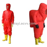 Heavy duty chemical protective suits