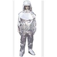 Resist heat protective aluminum foil fireman suit