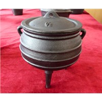 cast iron pot with 3 legs/cast iron potjie pot