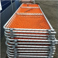 construction chain link security panel barrier/PVC coating barricade panels factory