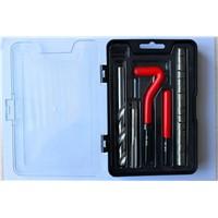 single size thread repair tool set for damaged screw thread repair