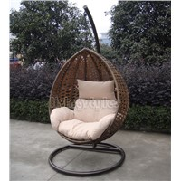 PE rattan swing chair for outdoor