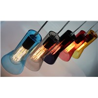 European ancient light / glass pendant light with edison bulb