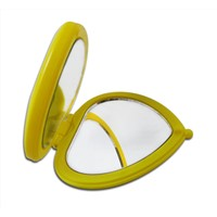 Heart shape pocket mirrors with double sides, cute and convenient for handbag taking