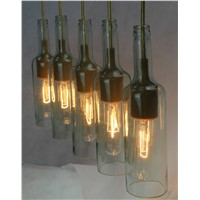 Made in china modern light / glass pendant light with edison bulb
