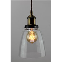 Ancient glass pendant light with edison bulb 40/60w from Dasher Lighting