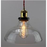 Unique glass pendant light with edison bulb 40/60w