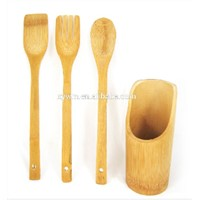 Basic Nature Bamboo Wooden Utensil Set Spoon and Kitchen Tool Fork Spatula
