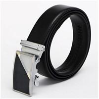 CY-BM008 Patent Men's Ratchet Genuine Leather Belts Marker Golf Belt