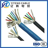 PVC Sheathed Flexible Control Cable XLPE Insulated Copper Conductor Braiding Shielded Cable