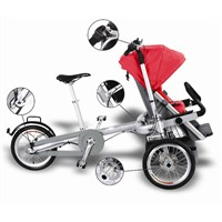 Red Baby Stroller with Electric