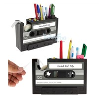 2015 new design novel Fancy Tape Dispenser Cassette Design Plastic Pen Holder