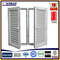 Aluminium Double-Hung Casement Shutter Window