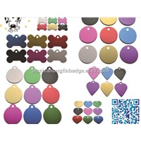Aluminum oxide dog tag; Anodized Dog Bone Tag; colorful dog tags; metal dog tags