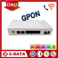 C-DATA GPON ONT 4FE+2POTS+WIFI compatible with ZTE.HuaWei OLT