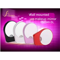 led mirror for daily makeup and shaving, wall mounting design