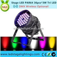 New LED PAR CAN 3W*36pcs Tri LED led stage lighting fixtures