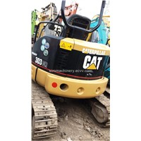 used japan cat 303 excavator original engine and paint in shanghai yard best price for cat 303