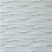 3D wavy interior stone wall design