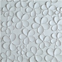Decorative 3D white artistic feature stone wall panel