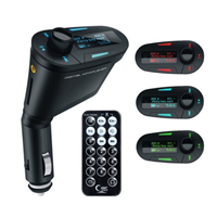 Car Kit MP3 Mucsic Player Wireless FM Transmitter Radio Modulator With USB SD MMC+ Remote Control