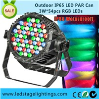 Outdoor IP65 LED Par Cans 54*3W RGB/RGBW LED stage lighting