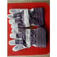 High Quality Cow Split Leather Working Gloves / Safety Gloves / Rigger Gloves