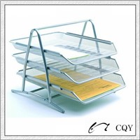metal mesh 3 tier file tray