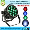 LED Disco light 12pcs*10W RGBW LED Par IP65 Waterproof,Outdoor led light