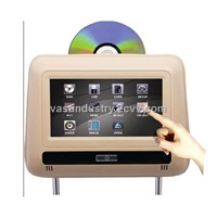 7inch touch sceen car headrest dvd with HDMI usb sd IR FM with wireless game(HY-766D)