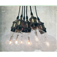 China supplier light E27 metal pendant light with brown box packing