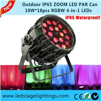 ZOOM LED Par Cans 18pcs*10W Waterproof LED PAR ,Stage LED PAR,led stage Par