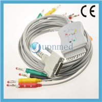 Schiller one piece 10 lead ekg cable with leadwires,Banana 4.00mm,IEC
