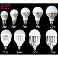 E27 Energy Saving LED Bulb Light Lamp 3W 5W 7W 9W 12W 24W 36W Cool Warm White AC 220V