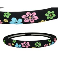 Flower cute plastic steering wheel covers