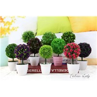 artificial grass ball new cute and fancy living room indoor decoration with pot home decoration