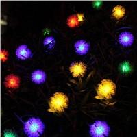 Outdoor Solar Light String 20 LED White Warm Color Light  Festival Decoration Solar Light String