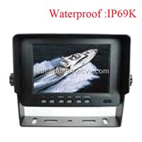 waterproof  5inch car rear view monitor with 2 channels 640x480 resolution (HY-W550)